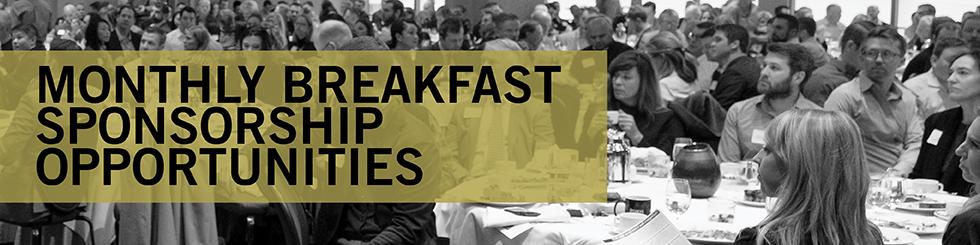 Banner promoting breakfast sponsorships
