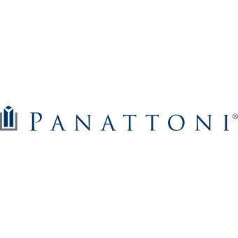 Panattoni blue logotype on white