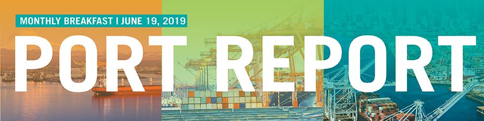 Banner image promoting June Port Report breakfast