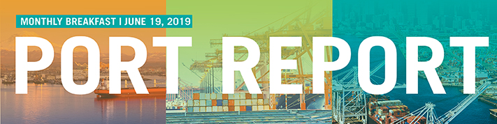 Port Report breakfast banner