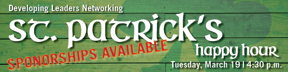Banner image promoting St Patrick's Networking on March 19