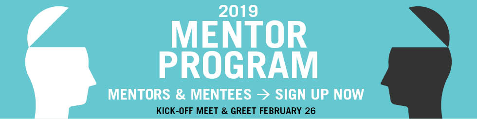 Banner image promoting signups for 2019 Mentor Program
