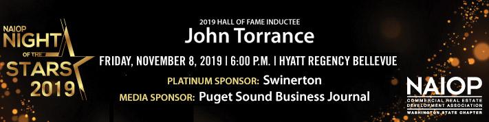 NOS 2019 promo banner naming Hall of Fame honoree John Torrance