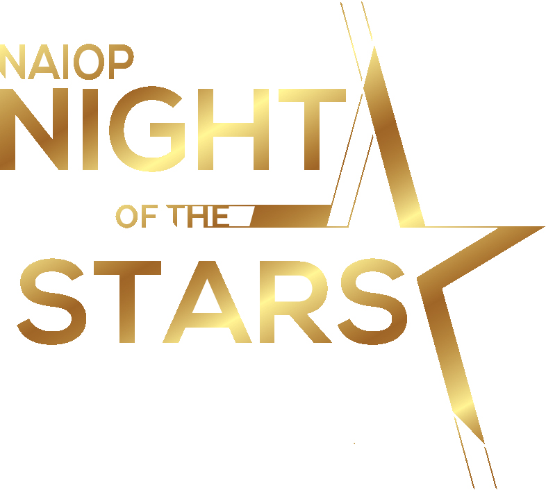 Gold text reading NAIOP Night of the Stars